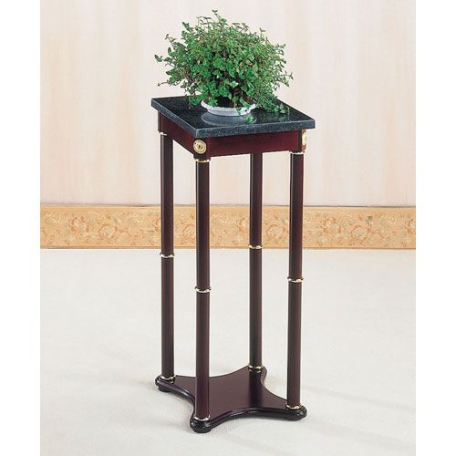 Green Marble Top Square Plant Stand Coaster Furniture Indoor Plant St ...