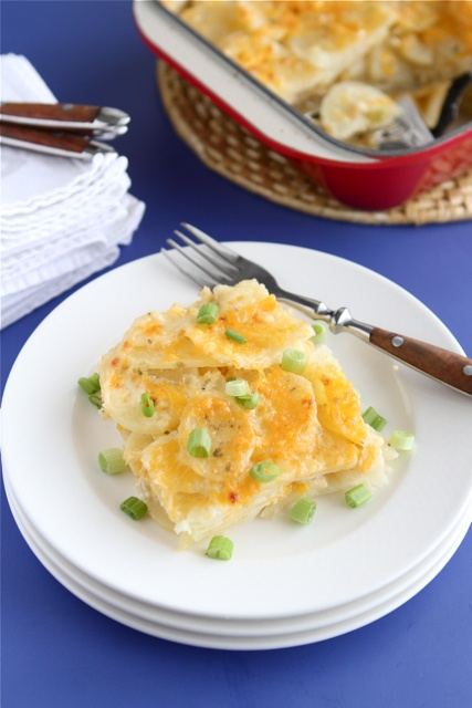 Three-Cheese Potato Gratin Recipe — Dishmaps