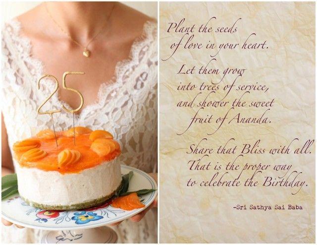 Raw Vegan White Chocolate Persimmon Birthday Cake // Vidya Cleanse # ...
