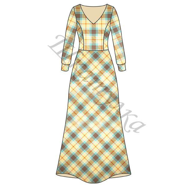 Платье в клетку с рукавом своими руками