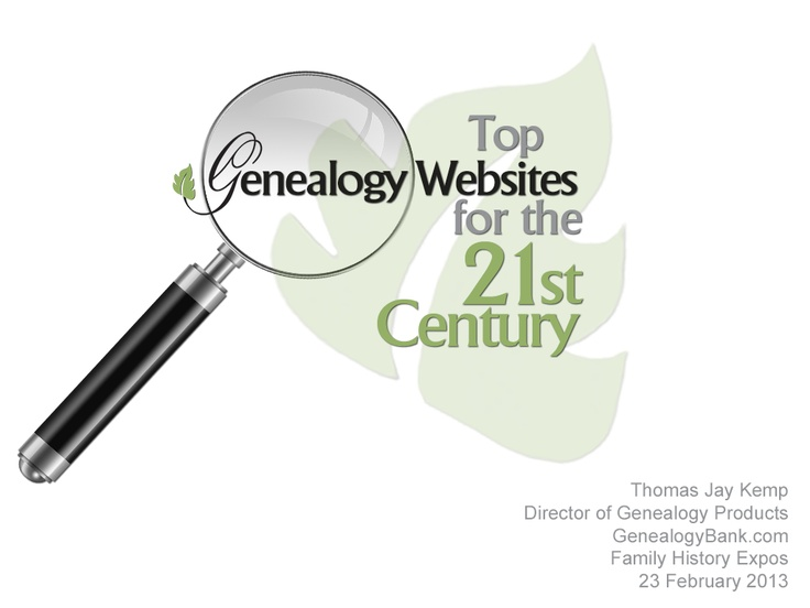 "Discover the top genealogy websites for family history research in this ""Top Genealogy Websites for the 21st Century"" PowerPoint deck: http://www.slideshare.net/genealogybank/top-genealogy-websites-for-the-21st-century    #ancestry #familytree"