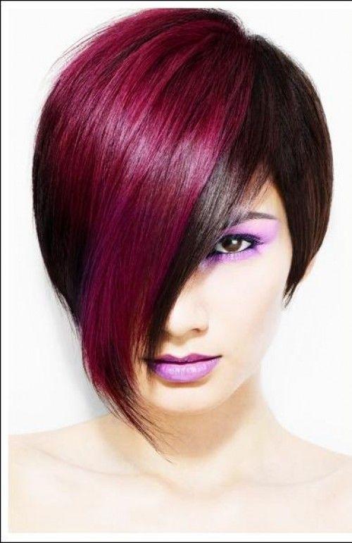 Fushsia Trendy Bob Haircut!! I love!!!