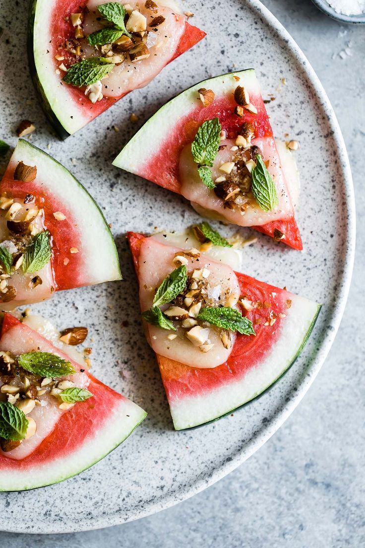 Marinated Tomato and Watermelon Wedges