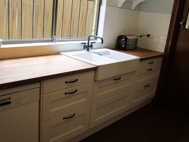 Domsjo sink non ikea cabinet for Ikea kitchen sink domsjo