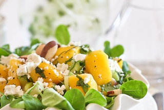 Mango, Celery and Goat Cheese Salad — Punchfork