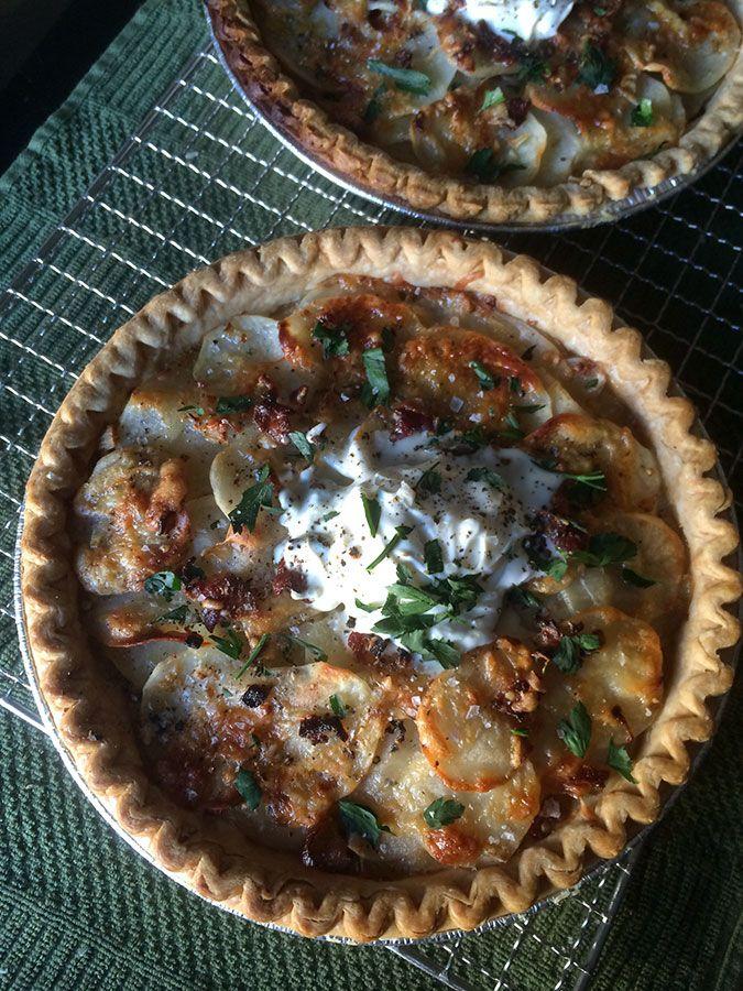 ... , Bacon & Gruyere Pie w/ Shallots, Creme Fraiche & Fresh Herbs