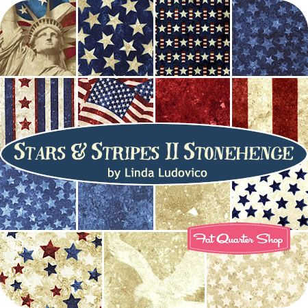 Stars & Stripes II Stonehenge Fat Quarter Bundle Northcott Fabrics - Fat Quarter Shop
