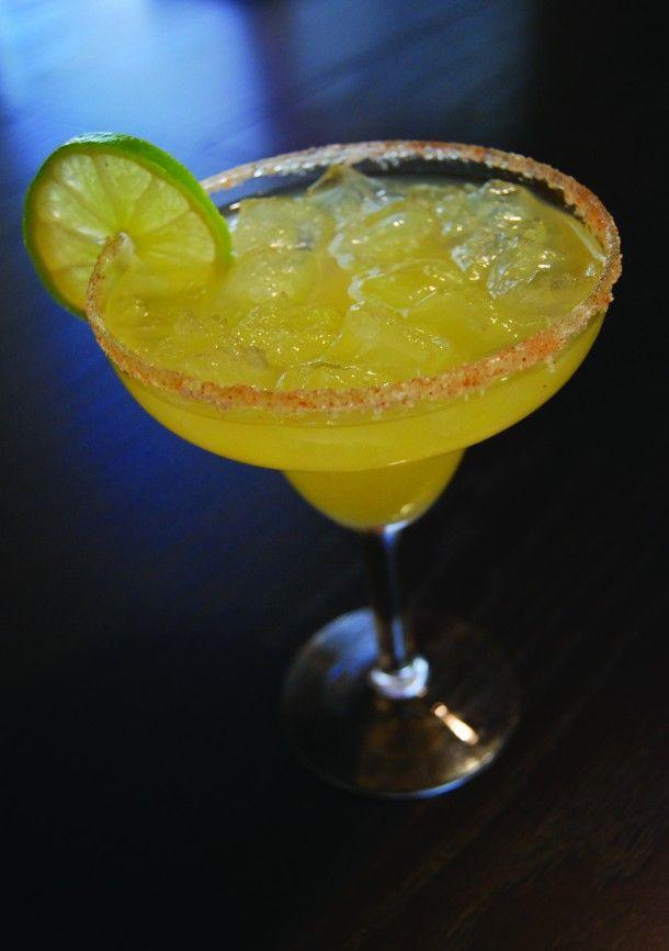 Habanero Margarita made w/ habanero infused tequila....