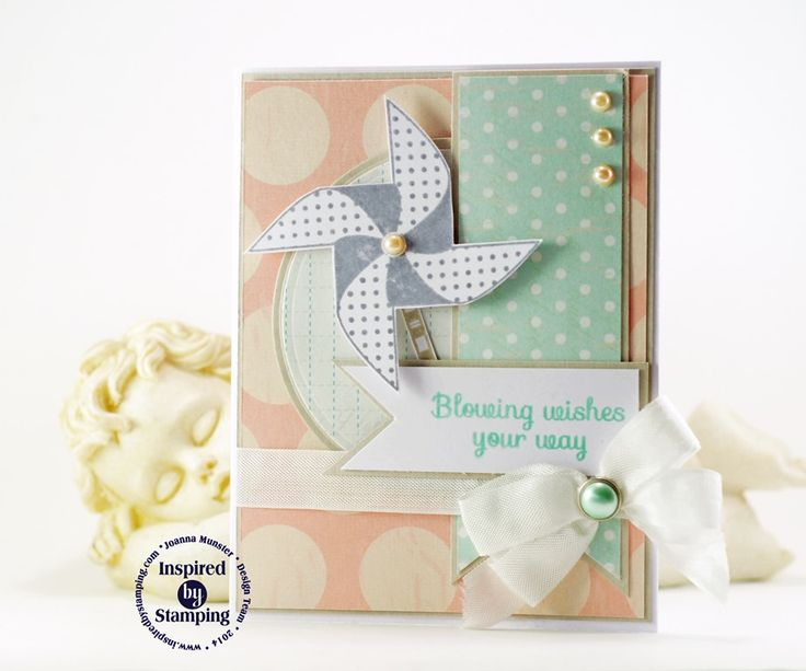 Inspired by Stamping, Joanna Munster, Swirling Pinwheels stamp set, birthday card, kids card