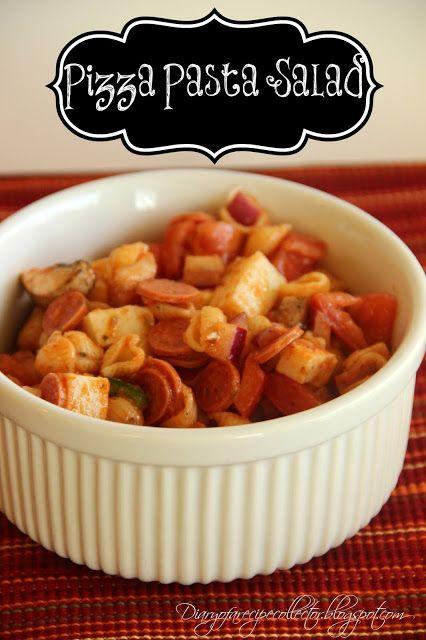 Make-Ahead Pizza Pasta Salad | FOOD: PASTA AND PIZZA | Pinterest