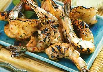 Grilled Shrimp with Roasted Garlic-Herb Sauce | Recipe