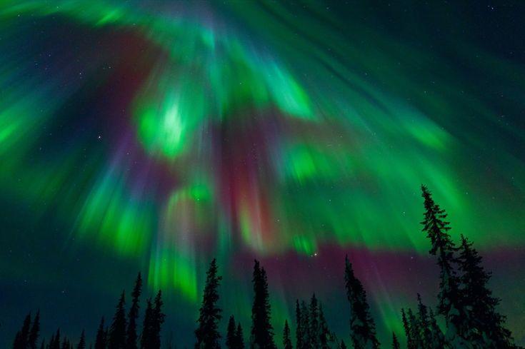 Aurora corona lights in Norway.