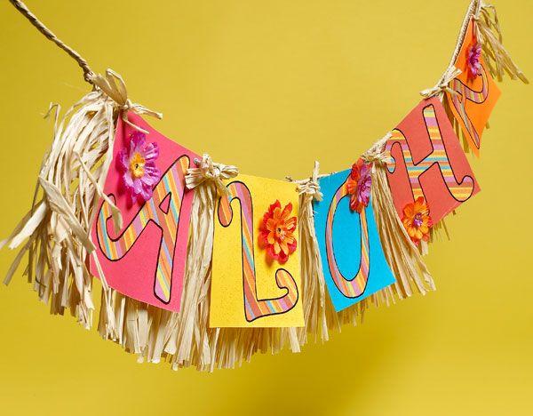 kids luau party | Craft Painting - Luau Party Set