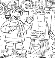 Sparky Fire Safety Coloring Sheets Abc Coloring Pages Sparky Coloring Pages