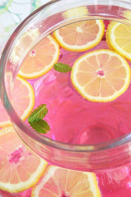 pink lemonade. | Baby Shower Food & Drink Ideas | Pinterest