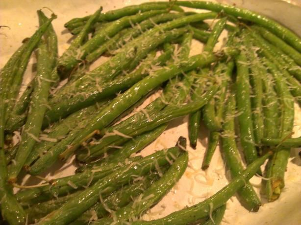 Roasted Zesty Parmesan Green Beans | Recipe