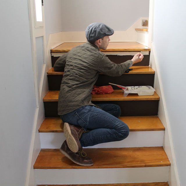 Best Painting Stair Risers White Diy Inspiration Pinterest 400 x 300