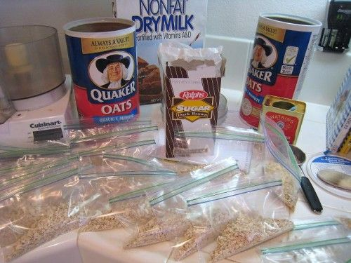 Homemade Instant Oatmeal Packets...These would be great for my husband ...