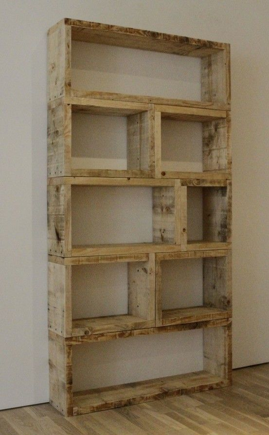 old palletes as a shelving unit!