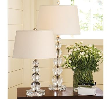 Stacked Crystal Table & Bedside Lamp Base #potterybarn