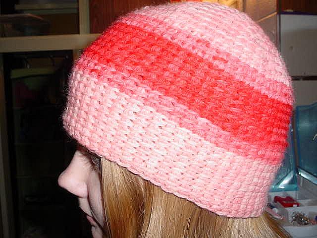 Tunisian crochet hat. Free pattern Crochet Pinterest