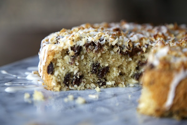Coconut Cake with Chocolate Chunks & Coconut Drizzle [similar taste to ...
