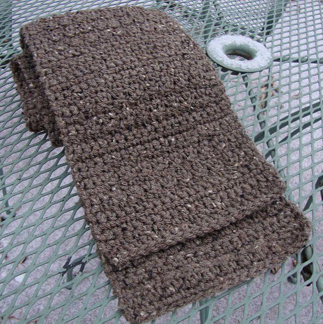 Free Mens Crochet Scarf Pattern. Guy crochet Pinterest