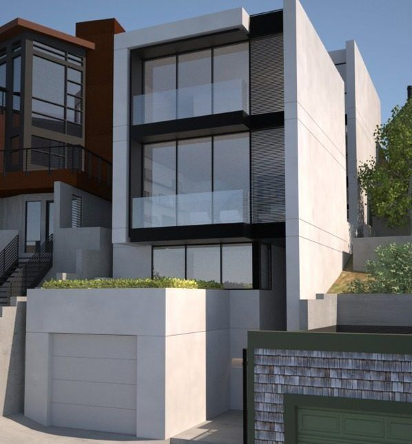 Modern townhouse architecture modern double level for Modern townhouse architecture