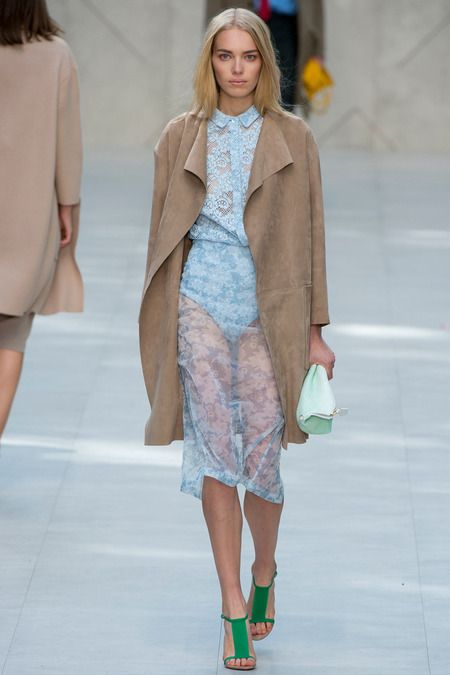 Burberry Spring 2014 - Sand and Placid Blue