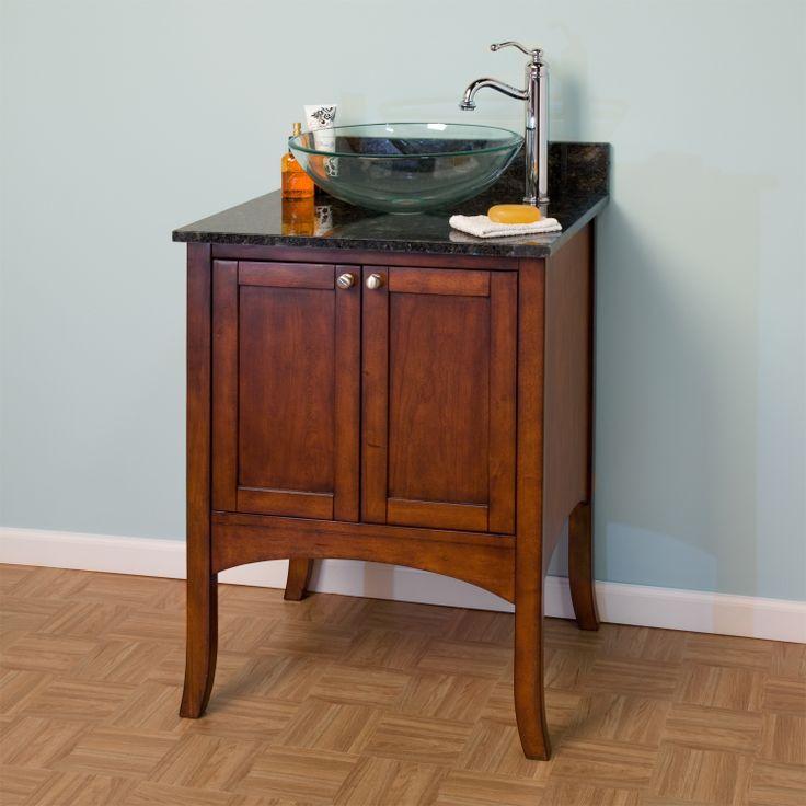 24 Vanity With Vessel Sink : 24