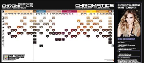 Redken chromatics shade chart and instructions 1 1 dev for Cartella colori dikson
