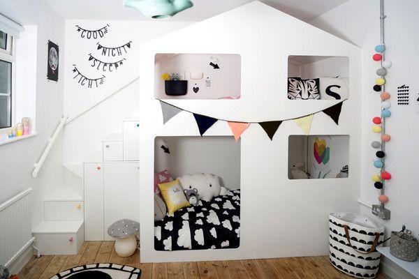 Lit cabane dans une chambre d'enfant - Envie 2 Deco ...