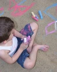 Best recipe for homemade sidewalk chalk (uses Plaster of Paris)