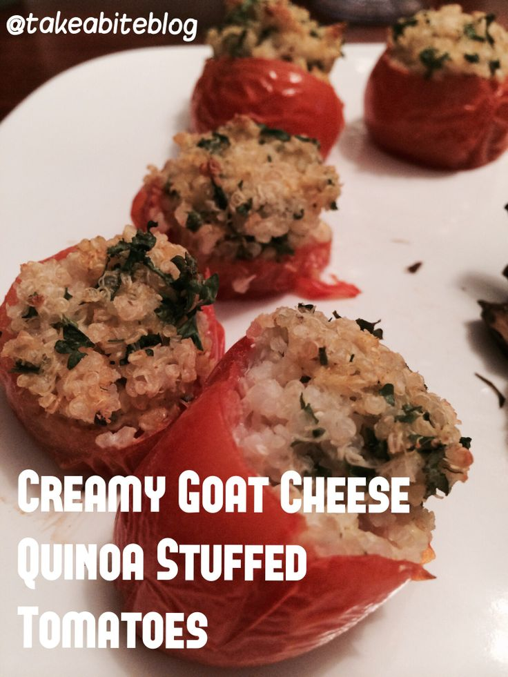 Quinoa Stuffed Tomatoes With Pesto And Goat Cheese Recipe — Dishmaps