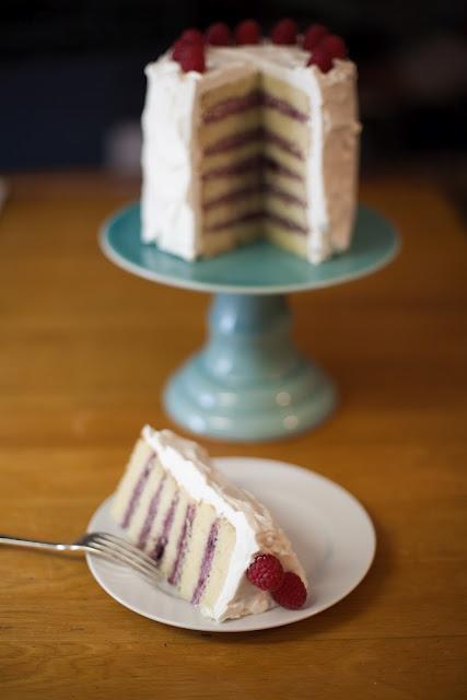 Winter Berries and Cream Cake (vanilla cake, raspberry filling, heavy ...