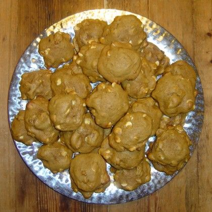... and recipe for pumpkin cookies with white-chocolate chips and pecans