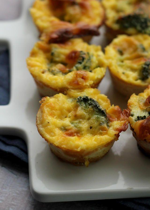 Broccoli Cheese Mini Quiches | Recipe