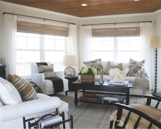 Bamboo blinds living rooms pinterest for Bamboo shades in living room