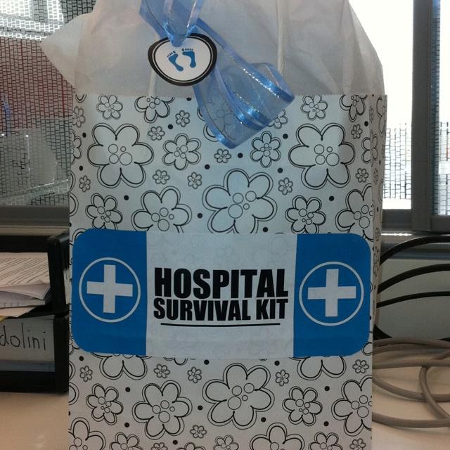 New Baby Gift Ideas For Hospital : Hospital survival kit for new moms baby shower homemade