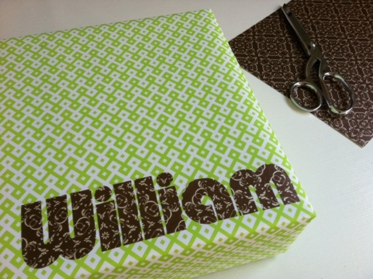 NAME PAPER: An incredibly special and easy way of wrapping a gift for a new baby or birthday.