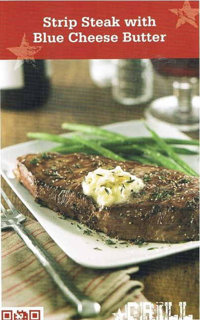 Strip Steak with Blue Cheese Butter | BEEF | Pinterest