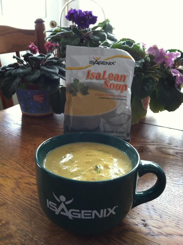 IsaLean Soup...added some roasted cauliflower & broccoli, cumin ...