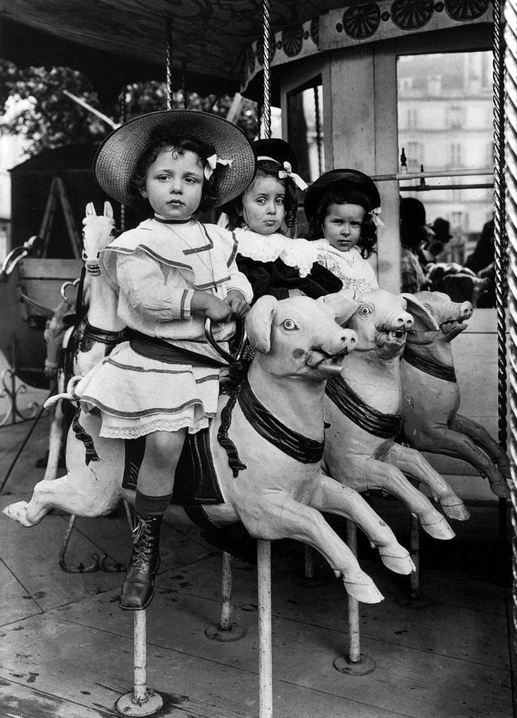Riding the Carousel Piglets