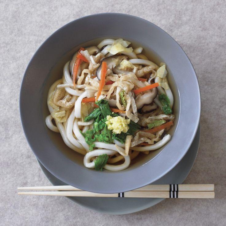 udon-noodle-soup - subbed veggie soup base. Left out Hoshi Yuba. Didn ...