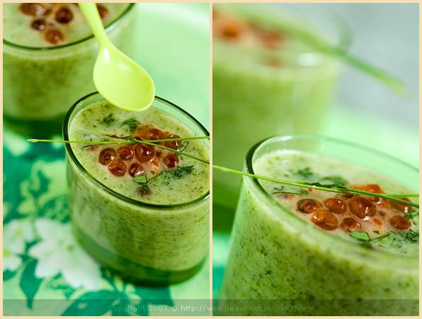 Broccoli Soup & Salmon Eggs - recipe can be found in La Tartine ...