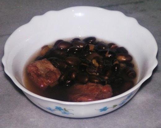 Black bean soup with pork ribs | Recipe