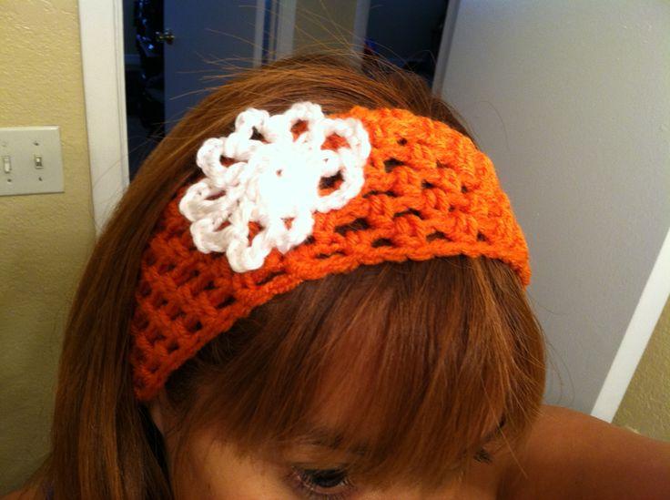 Diadema a crochet diademas para orejas crochet pinterest - Diademas a crochet ...