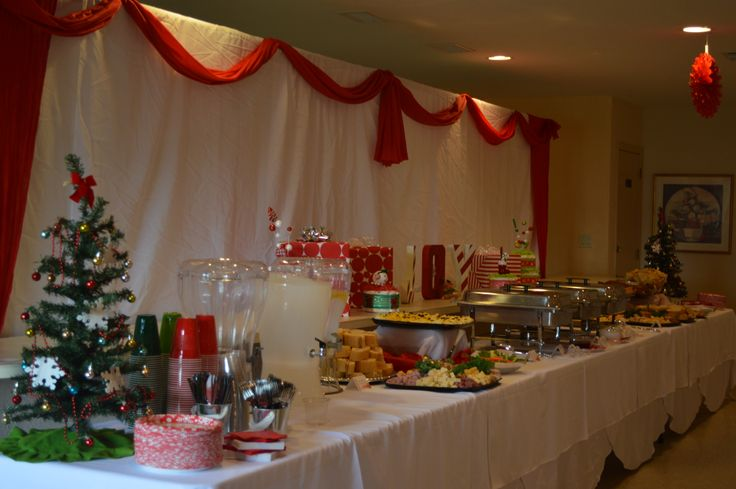 Holiday Baby Shower Food Display