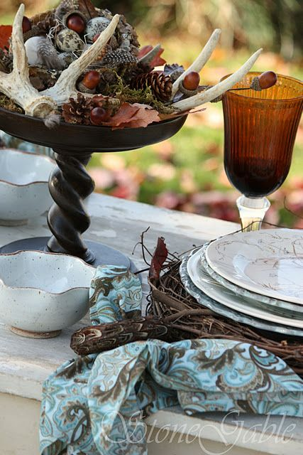 lovely fall tablescape