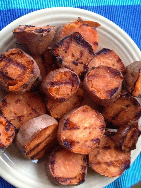 Maple Glazed Grilled Sweet Potatoes